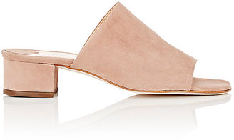 Barneys New York Women's Suede Mules $225 thestylecure.com