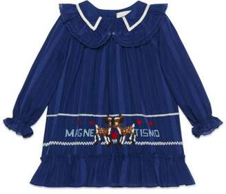 Gucci Baby embroidered cotton voile dress
