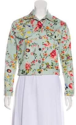 Alice + Olivia Floral Denim Jacket