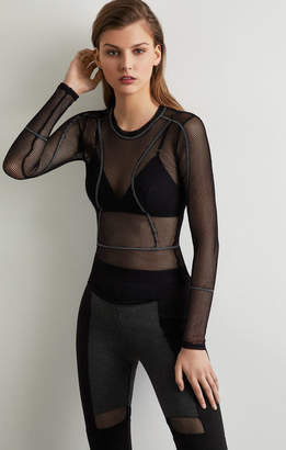 BCBGMAXAZRIA Diamond Mesh Top