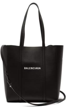 Balenciaga Everyday Xs Leather Tote - Womens - Black