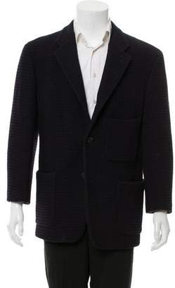 Giuliano Fujiwara Textured Two-Button Blazer