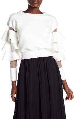 Gracia Ruffle Sleeve Sweater