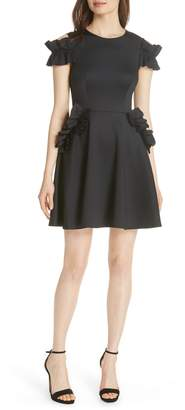 Ted Baker Deneese Ruffle Trim Skater Dress
