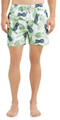 The Endless Summer Men's Printed Volley Swim Shorts. Up to size 2XL