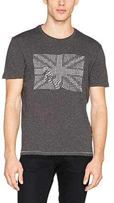 Sisley Men's T-Shirt, Black (Black W/Print 572)