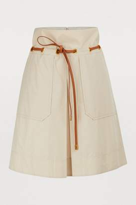 Tory Burch Short skirt with belt
