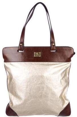 Burberry Leather-Trimmed Tote