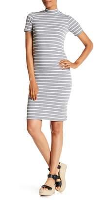 Velvet Torch Stripe Mock Neck Knit Dress