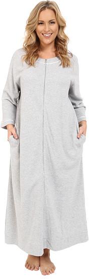 Carole HochmanCarole Hochman Plus Size Waffle Knit Zip Robe