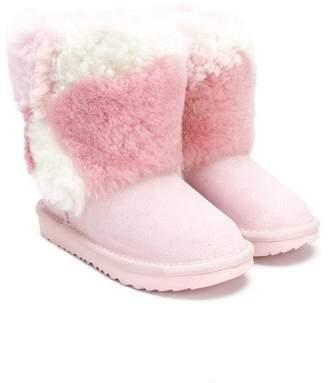 ... UGG short patchwork fluff boots