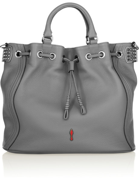 Dompteuse Bucket textured-leather tote
