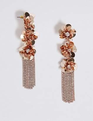 Marks and Spencer Triple Flower Shower Drop Earrings