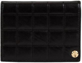 One Kings Lane Vintage Chanel Black Chocolate Bar Card Wallet - Vintage Lux