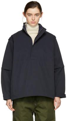 Chimala Navy Detachable Sleeve Pullover Jacket