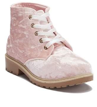 OLIVIA MILLER GO Velvet Ankle Boot (Little Kid & Big Kid)
