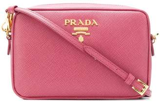 Prada logo plaque camera bag