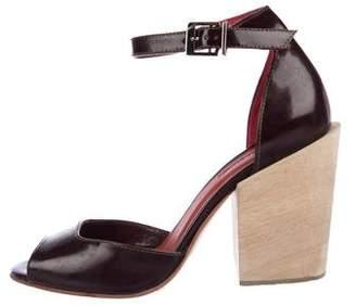 Rachel Comey Patent Leather Ankle Strap Sandals