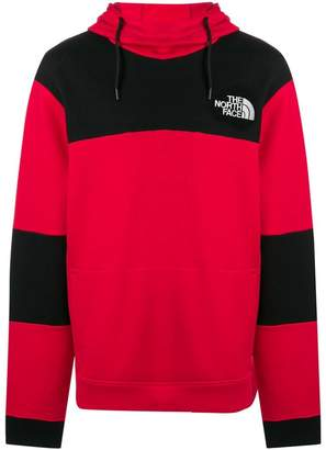 The North Face colour block logo hoodie