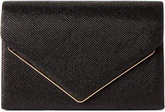 La Regale Black Metar Bar Shimmer Clutch