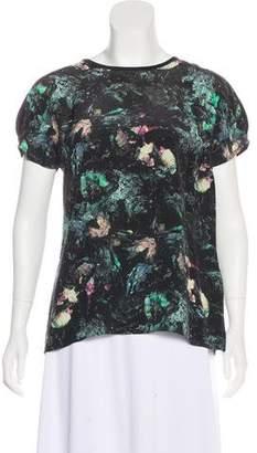 Vena Cava Printed Short Sleeve Blouse
