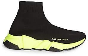 Balenciaga Women's Speed Sock Florescent-Sole Sneakers