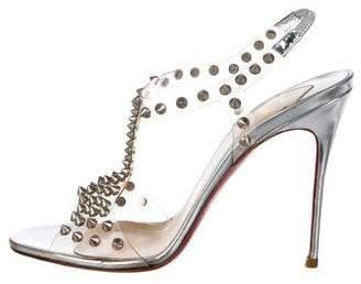 Christian Louboutin Spiked Metallic Sandals
