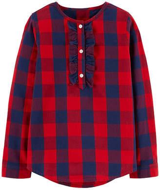 Osh Kosh Oshkosh Mock Neck Long Sleeve Blouse - Preschool Girls