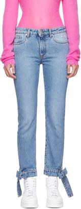 MSGM Blue Bows Detailing Jeans