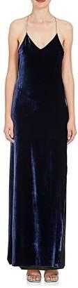 Amiri Women's Velvet T-Back Maxi Dress
