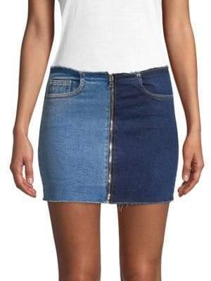 Cotton Citizen Denim Mini Skirt