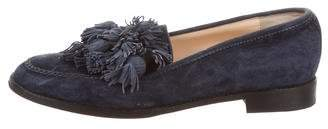 Christian Louboutin Suede Tassel Loafers