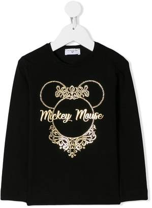 MonnaLisa metallic logo longsleeved T-shirt