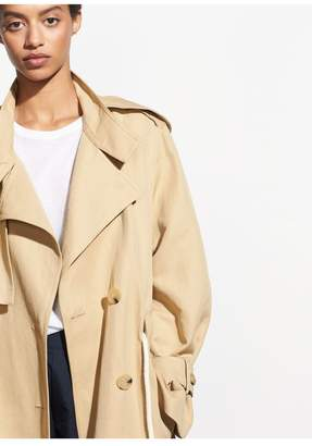Vince Long Linen Trench
