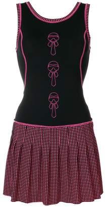 Fendi Karlito-appliqué fitted dress