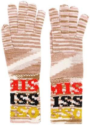 Missoni logo knitted gloves