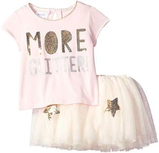 Mud Pie More Glitter Two-Piece Tutu Skirt Set Girl's Suits Sets