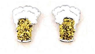 Wild Lilies Jewelry Beer Stud Earrings