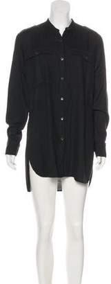 Dries Van Noten Long Sleeve Mini Shirtdress