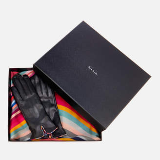 Paul Smith Women's Swirl Scarf and Gloves Gift Set - Multi
