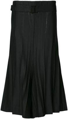 Issey Miyake wide-leg flared culottes