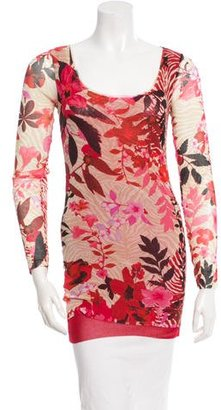 Fuzzi Printed Long Sleeve Top w/ Tags $75 thestylecure.com