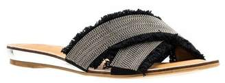 Good Choice New York Rhonda Embellished Crisscross Flat Sandal
