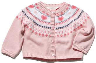 M&Co Heart knitted cardigan
