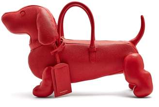 Thom Browne Hector grained-leather dog bag
