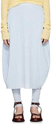 Jil Sander Women's Gingham Bubble Skirt - Blue