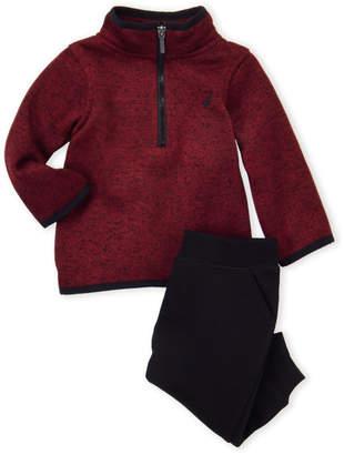 Nautica Newborn/Infant Boys) 2-Piece Zip Sweater Set