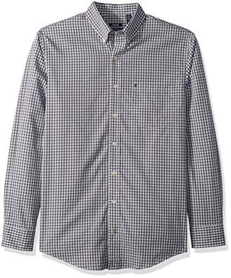 Izod Men's Premium Performance Natural Stretch Gingham Long Sleeve Shirt (Big & Tall and Tall Slim)