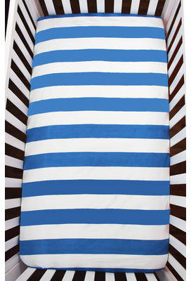 Atelier dele Stripes Organic Fitted Crib Sheet