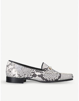 Carvela Mariner snake-embossed leather loafers